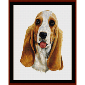Bassett Hound - Robert J May cross stitch pattern by Cross Stitch Collectibles | Crafting | Cross-Stitch | Wall Hangings