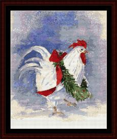 Christmas Rooster - SuzyPal cross stitch pattern by Cross Stitch Collectibles | Crafting | Cross-Stitch | Other