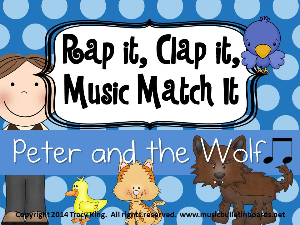 rap it, clap it, music match it: peter and the wolf  edition