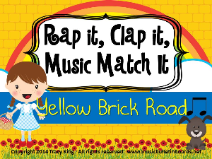 rap it, clap it, music match it: yellow brick road edition