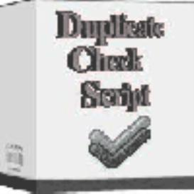 Duplicate Check Script | Software | Developer