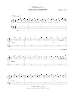 imagination - sheet music