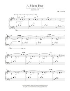 a silent tear - sheet music