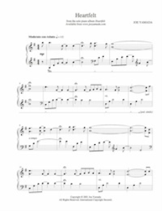 heartfelt - sheet music