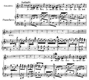 Oh! Didst thou know the pains…As when the dove laments her love. Recitative and Aria for Soprano (Galatea). G.F.Haendel: Acis and Galatea, HWV 49. Vocal Score (G.Gervinus), Ed. Peters   eBooks   Sheet Music