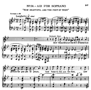 How beautiful are the feet of them. Aria for Soprano. G.F.Haendel: Messiah, HWV 56. Vocal Score, Ed. Schirmer  (Spicker-Noble). 1912. | eBooks | Sheet Music