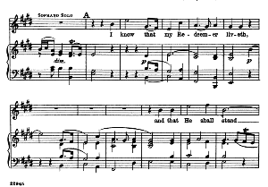 I know that my redeemer liveth. Aria for Soprano. G.F.Haendel: Messiah, HWV 56. Vocal Score, Ed. Schirmer  (Spicker-Noble). 1912   eBooks   Sheet Music