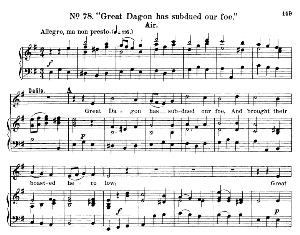 Great Dagon has subdued our foe. Aria for Soprano. G.F.Haendel: Samson, HWV 57. Vocal Score, Ed. Schirmer  (1900) | eBooks | Sheet Music