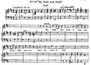 My faith and truth, O Samson. Aria for Soprano (Dalila). G.F.Haendel: Samson, HWV 57. Vocal Score, Ed. Schirmer  (1900) | eBooks | Sheet Music