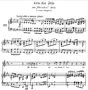 My father! Ah, methinks I see. Aria for Soprano. G.F.Haendel: Hercules, HWV 60, Vocal Score. Gesange für eine Frauenstimme (H. Roth), Ed. Peters, 1915 | eBooks | Sheet Music