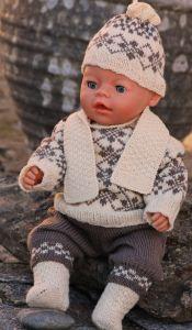 DollKnittingPatterns -0108D CORA - Sweater, Pants, Cap, Scarf and Socks Cra...