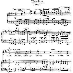 Lord, to thee, each night and day. Aria for Alto/Countertenor (Irene). G.F.Haendel: Theodora, HWV  68. Vocal Score. Schirmer Anthology of Sacred Song: Alto. (M. Spicker). Ed. Schirmer | eBooks | Sheet Music