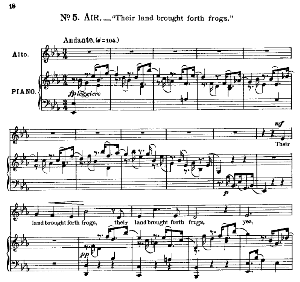 their land brought forth frogs. aria for alto/countertenor. g.f.haendel: israel in egypt, hwv 54. vocal score, ed. schirmer; pd
