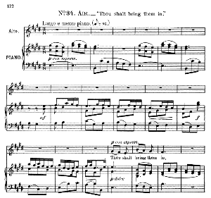 thou shalt bring them in. aria for alto/countertenor. g.f.haendel: israel in egypt, hwv 54. vocal score, ed. schirmer; pd.