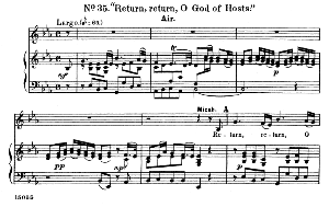 Relieve thy champion...Return, O God of hosts. Recitative and Aria for Alto/Countertenor (Micah). G.F.Haendel: Samson HWV 57, Vocal Score. Ed. Schirmer  (1900). PD. | eBooks | Sheet Music