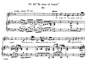 Ye sons of Israel. Aria for Alto/Countertenor (Micah). G.F.Haendel: Samson HWV 57, Vocal Score. Ed. Schirmer  (1900). PD. | eBooks | Sheet Music