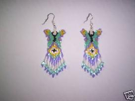 Brick Stitch Butterfly Delica Seed Beading Fringe Earring Pattern | Other Files | Arts and Crafts