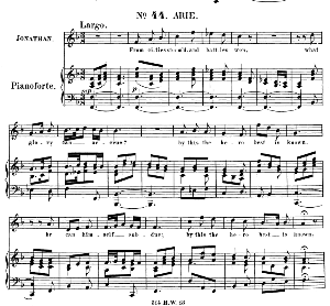 From cities storm'd, and battles won. Aria for Tenor (Jonathan). (G.F.Haendel: Saul, HWV 53.Vocal Score (G.Gervinus), Ed. Peters (1925) | eBooks | Sheet Music
