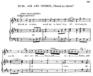 My arms! Against this Gorgias will I go…Sound an alarm! Recitative and Aria for Tenor (Judas). G.F.Haendel: Judas Maccabaeus, HWV 63. Vocal Score, Ed. Schirmer  (F. Van der Stucken). 1908 | eBooks | Sheet Music