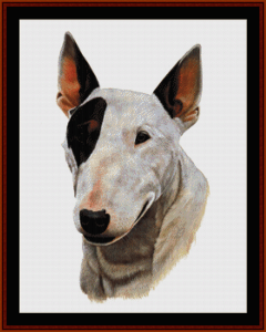 Bull Terrier - Robert J. May cross stitch pattern by Cross Stitch Collectibles | Crafting | Cross-Stitch | Wall Hangings