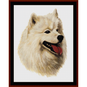 samoyed - robert j. may cross stitch pattern by cross stitch collectibles