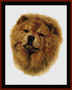 chow - robert j. may cross stitch pattern by cross stitch collectibles