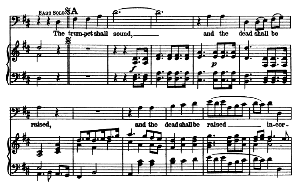 behold, i tell you a mystery... the trumpet shall sound. recitative and aria for bass. g.f.haendel: messiah, hwv 56. vocal score, ed. schirmer  (spicker-noble). 1912