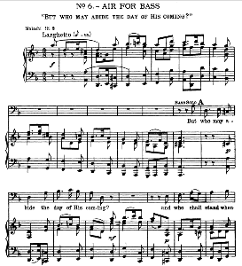 Thus said the Lord... But who may abide the day of his coming. Aria for Bass. G.F.Haendel: Messiah, HWV 56. Vocal Score, Ed. Schirmer (Spicker-Noble). 1912 | eBooks | Sheet Music