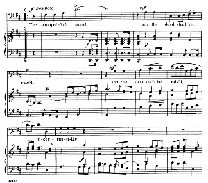 behold! i tell you a mystery... the trumpet shall sound. recitative and aria for bass. g.f.haendel: messiah, hwv 56. vocal score. schirmer anthology of sacred song: bass. (m. spicker). ed. schirmer