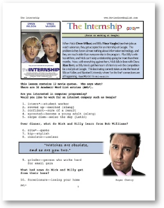 the internship, whole-movie english (esl) lesson