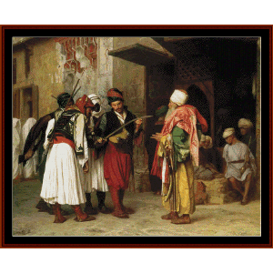 clothing merchant in cairo - gerome cross stitch pattern by cross stitch collectibles