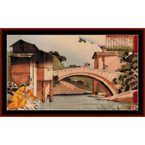 sosan returning to his mother cross stitch pattern by cross stitch collectibles