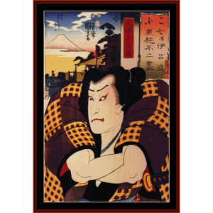 The Actor I - Asian Art cross stitch pattern by Cross Stitch Collectibles | Crafting | Cross-Stitch | Wall Hangings
