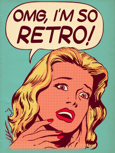 retro blonde girl poster file