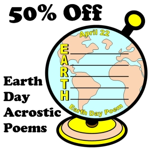 50% off e.a.r.t.h. day acrostic poem