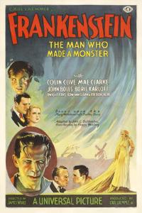 vintage frankenstein horror movie poster