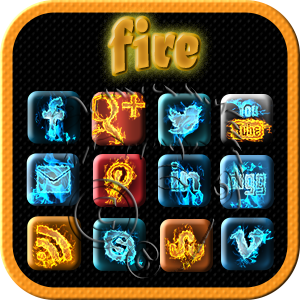 the elements - fire social media icons