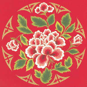 vintage chinese flower circle