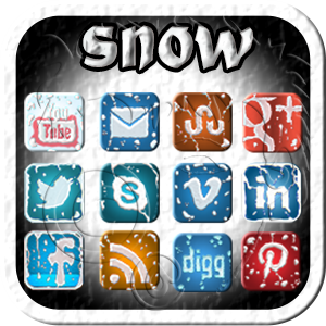 the elements - snow social media icons