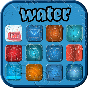 the elements - water social media icons