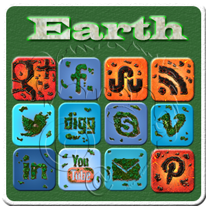 the elements - earth social media icons