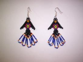 Brick Stitch Raven Delica Seed Beading Earring Pattern | Other Files | Arts and Crafts