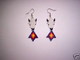 Brick Stitch White Buffalo Delica Seed Beading Earring Pattern | Other Files | Arts and Crafts