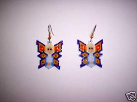 Brick Stitch Butterfly Fairy Delica Seed Beading Earring Pattern | Other Files | Arts and Crafts