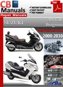 Suzuki AN 650 Burgman 2000-2010 Service Repair Manual | eBooks | Automotive
