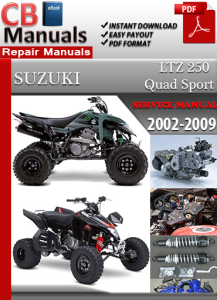 Suzuki  LTZ 250 Quad Sport 2002-2009 Service Repair Manual | eBooks | Automotive
