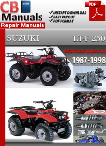 Suzuki LT-F 250 1987-1998 Service Repair Manual | eBooks | Automotive