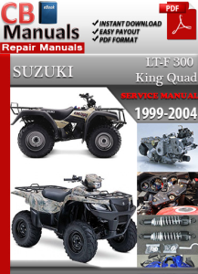 suzuki atv lt 300 king quad 1999-2004 service repair manual