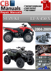 suzuki lta 450x 2004-2009 service repair manual