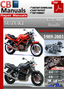 Suzuki Bandit GSF 400 1989-2001 Service Repair Manual | eBooks | Automotive